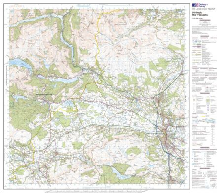 OS Landranger 057 - Stirling & The Trossachs - FLAT Rolled in a Tube